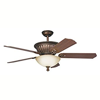 Kichler Lighting 300012TZG 52-Inch Larissa Ceiling Fan, Tannery Bronze