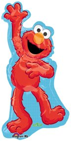 Sesame Street Elmo Waving Super Shape Mylar Party Balloon - 1