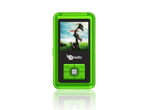 Ematic 2GB Color MP3 Video Player with 1.5-Inch Screen, FM Radio and Voice Recording Green)