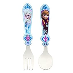 Disney Store Frozen Anna And Elsa Flatware - Original 2013 Design