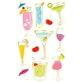 12 PACK GNT SHEET STIX COCKTAILS REFL Papercraft, Scrapbooking (Source Book)
