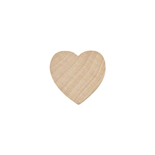 Wood Heart 1 Inch, Natural Unfinished Wooden Heart Cutout Shape, Wood Hearts (1