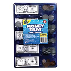 Learning-PlaygroundTM-Money-Tray-Play-Coins-And-Currency-Included-Clear-Blue