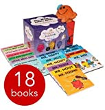 Mr Men & Little Miss Glitter Box Gift Set Collection 18 Books + Mr Tickle Soft Toy