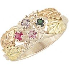 Black Hills Gold Mother's Ring - 5 stones - MR902