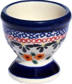 Polish Pottery Egg Cup From Zaklady Ceramiczne Boleslawiec #203-149 Art Signature Unikat Pattern