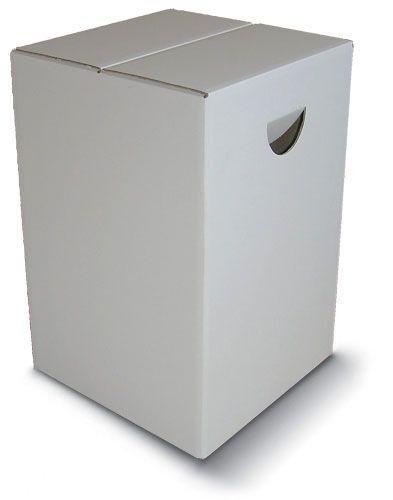 Taburete de Cartón Color Blanco hasta 200 Kg Taburete Plegable para Ferias Eventos 20 unidades
