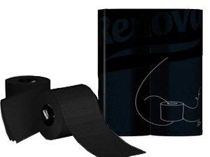 Renova Toilet Paper - Black Tissue Roll (6 Roll Standard Pack)