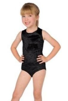 Girls Leotard Dress Up Costume, Black/Small 4-6