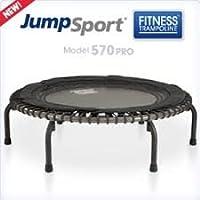 JumpSport Fitness Trampoline Model 570 PRO Professional Trampoline, Metallic Charcoal