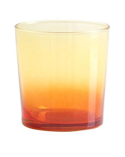 Shiraleah Set of 6 Orange Ibiza 10-Oz. Double Old Fashioned Glasses