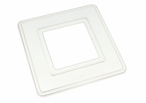 SINGLE LIGHT SWITCH SURROUND FINGER BACK PLATE CLEAR PLASTIC ( pack of 5 )
