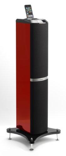 Lenco Ipod-Tower 1 Lautsprecher mit Apple iPod-Docking Station (60 Watt) rot