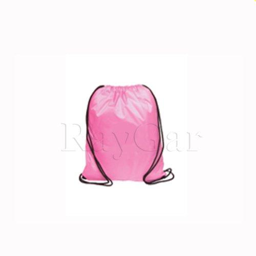 Pink Drawstring Bag Backpack Rucksack School Book Bag Sport Gym Swim PE Football Karate Ju-Jitsu Running Swimming Boxing Judo Netball Bag 'Brand New'