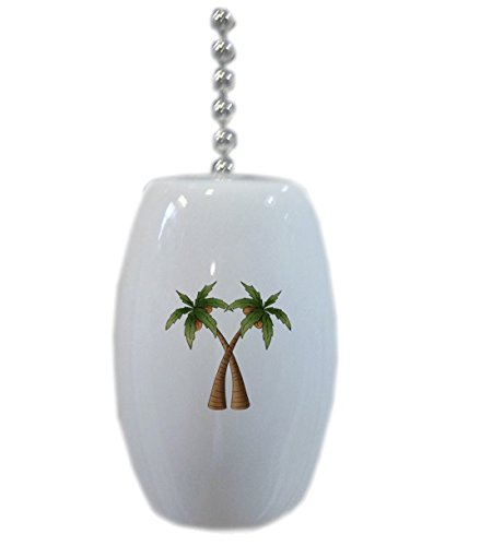 Coconut Palm Trees Ceramic Fan Pull front-670572