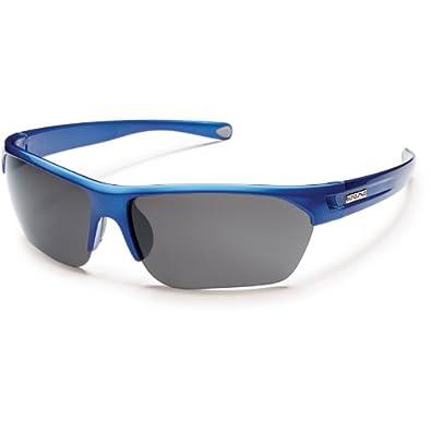 Suncloud Optics Detour Rimless Frames Polarized Outdoor Sunglasses/Eyewear, Blue/Gray, One Size Fits All