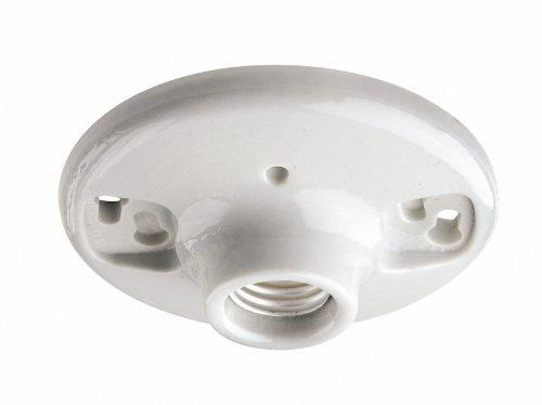 Images for Leviton 9875 Porcelain Outlet Box Mount, Incandescent Ceiling Lampholder, Keyless, White
