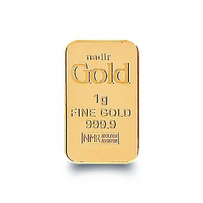 Nadir Goldbarren 1 Gramm, LBMA Zertifiziert Mit Hologramm Goldbarren 1 g 1 Gramm Scheckkartenformat Feingold 999.9 geblistert Nadir Gold