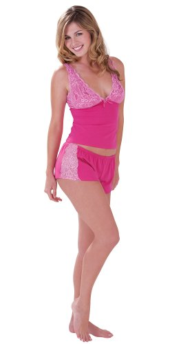 Hot Pink Lacey Short Set