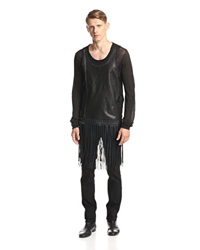 Rick Owens Men's Leather Fringed Tank