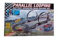 Battery Operated Road Racing Set Parallel Looping