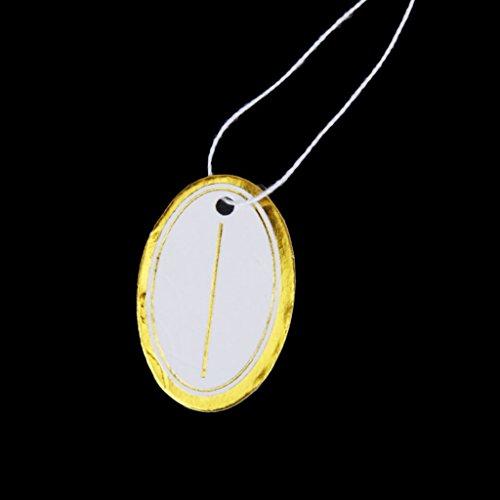 SODIAL(R) 500x etiquettes de Prix avec Corde pour Vente de bijoux