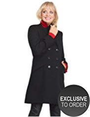 Twiggy for M&S Collection Wool Blend Twill Tailored Coat