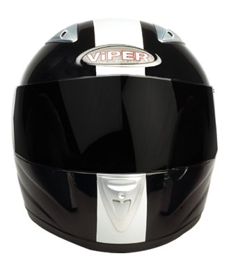 VIPER RS-33 MOTORCYCLE HELMET Black/White With Free Dark Visor L (59-60 Cm)
