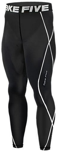New-011-Take-Five-Skin-Tights-Compression-Leggings-Base-Layer-Black-Running-Pants-Mens-S-3xl