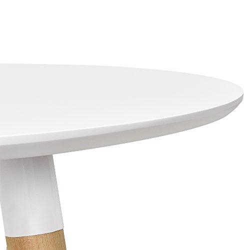 esstisch rund wei h 75cmx 80cm holz tisch retro k chentisch com forafrica. Black Bedroom Furniture Sets. Home Design Ideas