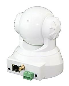 INSTAR WLAN Netzwerkkamera IN-3011 für Innenbereich (10 LED Infrarot Nachtsicht, Mikrofon und Lautsprecher integriert) weiß