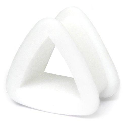 Silicone Tunnel | Silicon Triangle Flesh Tunnel | 8mm gauge | White