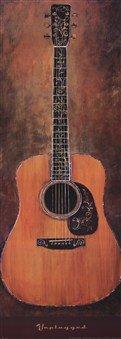 Unplugged High Quality Museum Wrap Canvas Print Jill Barton 14X38