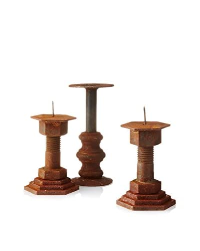 Uptown Down Set of 3 Vintage Candle Holders