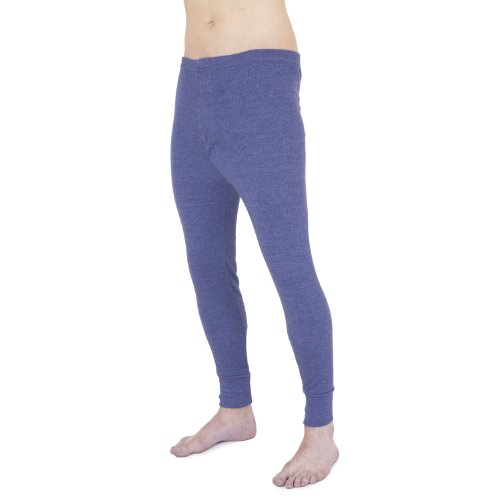 Thermo-Unterwäsche, lange Unterhosen für Herren Taille: 102-107 cm (X-Large),Jeansblau