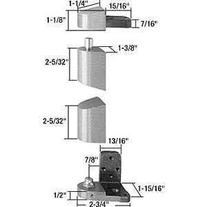Crl Jackson Aluminum Right Hand 3 4 Quot Offset Pivot Hinge