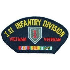 US Military Vietnam War Iron On Patch - 1st Infantry Division Vietnam Veteran