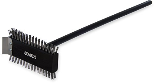 Carlisle 4029000 Broiler Master Grill Brush, Stainless Steel Bristles, 30.5