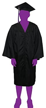 Graduate Gown Package (Cap, Gown, and Tassel) (Black)