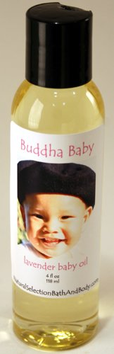 Personalized Buddha Baby Lavender Oil with pink font on label
