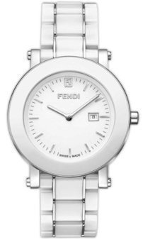 Fendi Women's F642140 Ceramic Analog Display Quartz White Watch