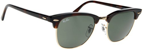 Ray-Ban 3016 W0366 Clubmaster Sunglasses Tortoise/Arista/Crystal Green