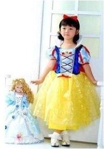 白雪姫 キッズ衣装 ハロウィン コスプレ 変身 コスチューム 90cm~100cm 3歳ぐらい(並行輸入品)