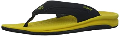 Reef Men's Flex Sandal, Yellow/Grey, 7 M US