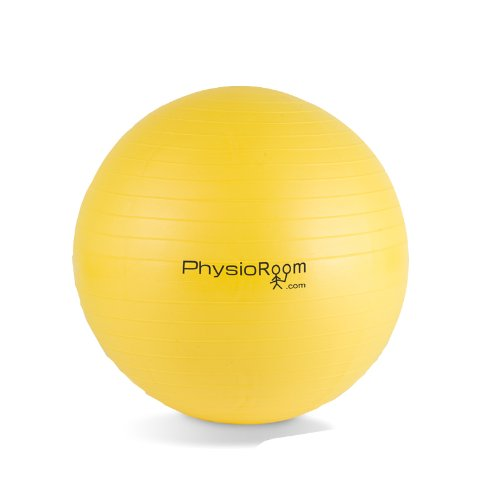 PhysioRoom Gym Swiss Yoga Ball Anti Burst 55cm Fitness With With FREE Dual Action Pump