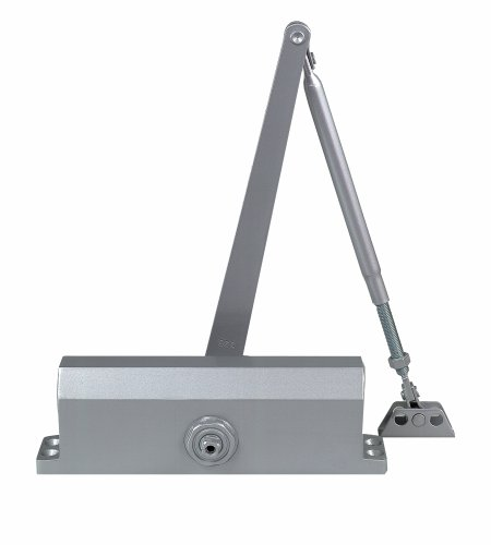 Global TC2203-BC-AL Hydraulic Door Closer Size 3 Spring Backcheck, Aluminum