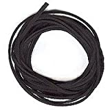 Velvet Black Faux Leather Suede Beading Cord 10 Feet Ultra Microfiber