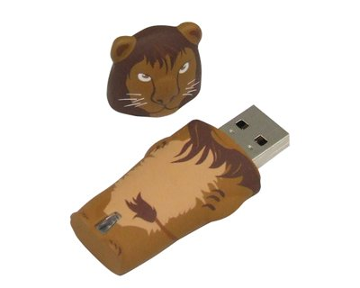 4GB LION USB Flash Memory Drive from JellyFlash