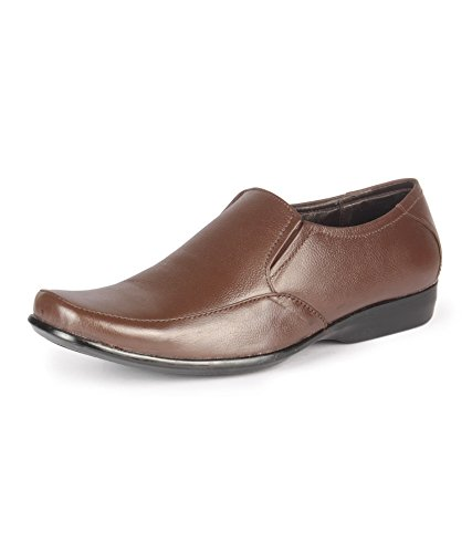 Leather King Men's Brown Leather Shoes (LK-2009-44-BR)-UK 6