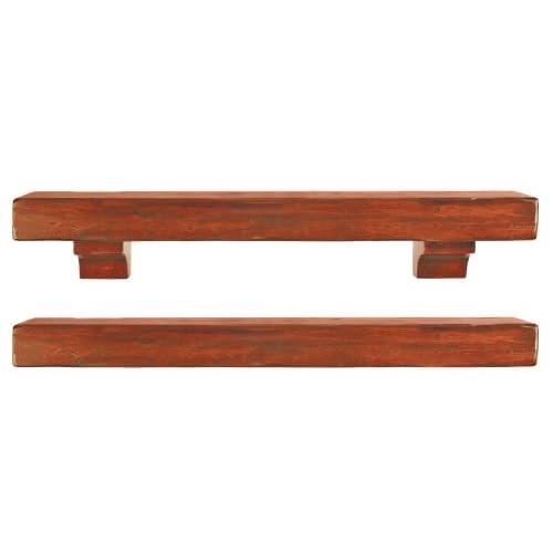 Pearl Mantels Shenandoah Pine 60 Fireplace Mantel Shelf Rustic 412 60 50 New Ebay